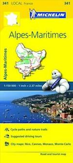 Alpes-Maritimes, France Local Map 341 (Michelin Local Maps)