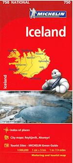 Iceland Map (Michelin National Map)