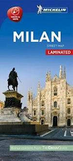 Milan - Milano Street Map Laminated af Michelin