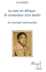Le nom en afrique : fil conducteur d'un destin - un exemple af Perrin