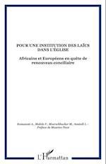 POUR UNE INSTITUTION DES LAICSDANS L'EGLISE