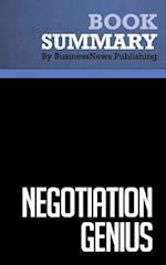 Summary : Negotiation Genius - Deepak Malhotra and Max Bazerman