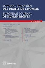 Journal Europeen des Droits de l'Homme / European Journal of Human Rights (Journal Europeen DES Droits De Lhomme European Journal of Human Rights, nr. 1)