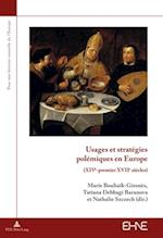 Usages et strategies polemiques en Europe