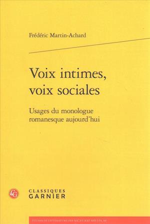 Bog, paperback Voix Intimes, Voix Sociales af Frederic Martin-Achard