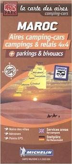 Morocco - Maroc: Autocamper map - Aires camping-cars (Michelin Trailers Park Maps for Autocampers)