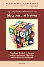 Education That Matters (Rethinking Education, nr. 7)