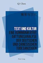 Text Und Kultur