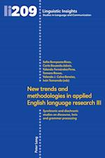 New Trends and Methodologies in Applied English Language Research III (Linguistic Insights)