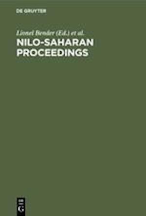 Nilo-Saharan Proceedings