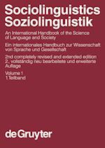 Sociolinguistics / Soziolinguistik, Volume 1, Sociolinguistics / Soziolinguistik. an International Handbook of the Science of Language and Society / E