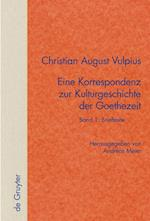 Band 1 af Christian August Vulpius