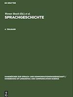 Sprachgeschichte. 4. Teilband