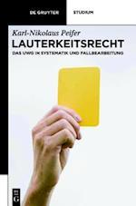 Lauterkeitsrecht af Karl-nikolaus Peifer, Ulrich Boesenberg