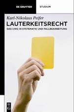 Lauterkeitsrecht af Karl-nikolaus Peifer