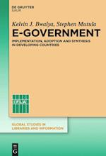 E-Government (Global Studies in Libraries and Information, nr. 1)