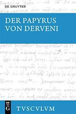 Der Papyrus Von Derveni (Sammlung Tusculum)