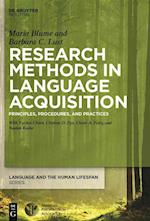 Research Methods in Language Acquisition (Language and the Human Lifespan)