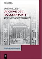 Archive Des Volkerrechts (Colloquia Augustana, nr. 34)