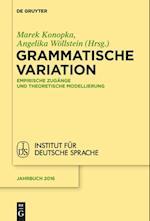 Grammatische Variation (Jahrbuch des Instituts fur Deutsche Sprache, nr. 2016)