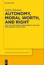 Autonomy, Moral Worth, and Right (Kantstudien-Erganzungshefte, nr. 198)