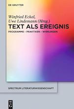 Text ALS Ereignis (Spectrum Literaturwissenschaft / Spectrum Literature, nr. 57)