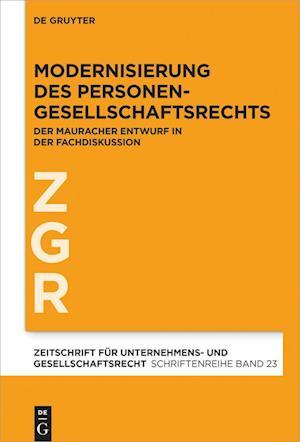 Modernisierung des Personengesellschaftsrechts