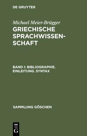 Bibliographie. Einleitung. Syntax