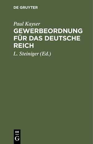 Gewerbeordnung für das Deutsche Reich
