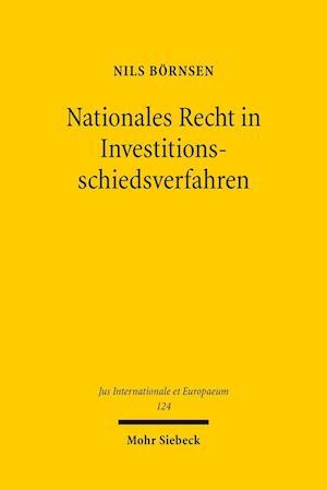 Bog, paperback Nationales Recht in Investitionsschiedsverfahren af Nils Bornsen