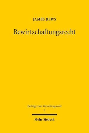 Bog, paperback Bewirtschaftungsrecht af James Bews