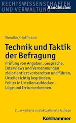 Technik Und Taktik Der Befragung af Axel Wendler, Helmut Hoffmann