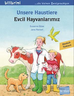 Unsere Haustiere. Kinderbuch Deutsch-Türkisch