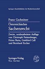 A-Sterreichisches Sachenrecht af Franz Gschnitzer