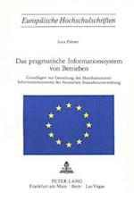 Das Pragmatische Informationssystem Von Betrieben (Europaeische Hochschulschriften European University Studie, nr. 173)