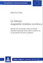 La Historia (Europaeische Hochschulschriften European University Studie, nr. 36)