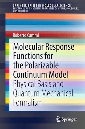 Molecular Response Functions for the Polarizable Continuum Model : Physical basis and quantum mechanical formalism