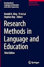 Research Methods in Language and Education (Encyclopedia of Language and Education, nr. 10)
