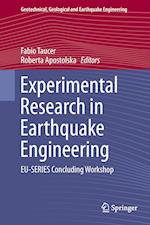 Experimental Research in Earthquake Engineering af Fabio Taucer