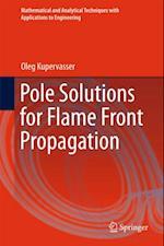 Pole Solutions for Flame Front Propagation af Oleg Kupervasser