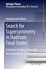 Search for Supersymmetry in Hadronic Final States af Hannsjorg Weber