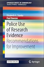 Police Use of Research Evidence (Springerbriefs in Criminology)