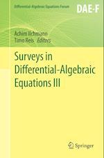 Surveys in Differential-Algebraic Equations III af Achim Ilchmann