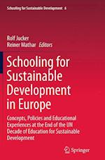 Schooling for Sustainable Development in Europe (Schooling for Sustainable Development, nr. 6)
