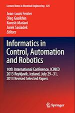 Informatics in Control, Automation and Robotics (Lecture Notes in Electrical Engineering, nr. 325)