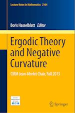 Ergodic Theory and Negative Curvature : CIRM Jean-Morlet Chair, Fall 2013