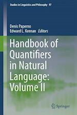Handbook of Quantifiers in Natural Language: Volume II (STUDIES IN LINGUISTICS AND PHILOSOPHY, nr. 97)