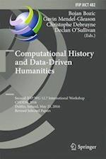 Computational History and Data-Driven Humanities (Ifip Advances in Information and Communication Technology, nr. 482)