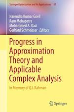 Progress in Approximation Theory and Applicable Complex Analysis : In Memory of Q.I. Rahman