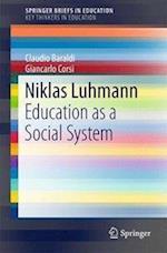 Niklas Luhmann (Springer Briefs in Education)